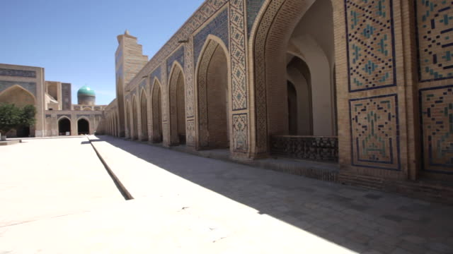 inside of of the kalyan mosque (maedjid-i kalyan) in bukhara, uzbekistan - bukhara stock videos and b-roll footage