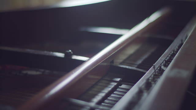 inside of old clasic piano - piano stock videos & royalty-free footage