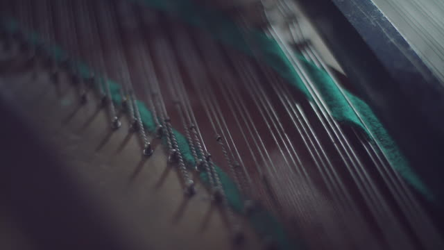 inside of old clasic piano - piano stock videos and b-roll footage