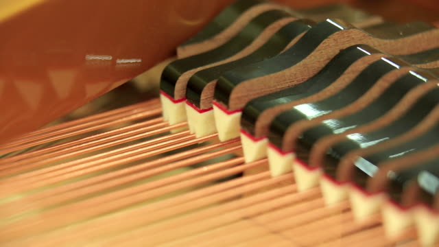 inside of piano / south korea - musikinstrument stock-videos und b-roll-filmmaterial