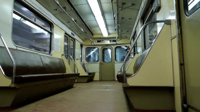 À l'intérieur de métro
