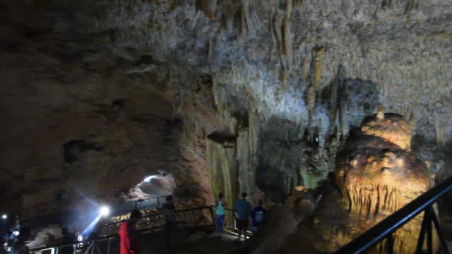 inside of the bellamar caves which are a major tourist attraction in the city of matanzas the proximity to varadero beach guarantees the attendance... - varadero beach stock videos and b-roll footage