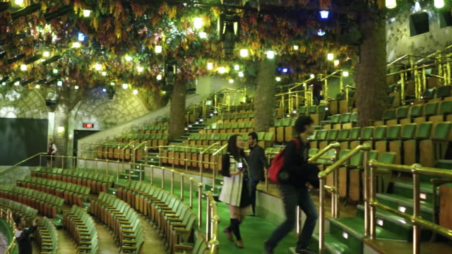 inside of the elgin and winter garden theaters. details of the winter garden. they are the only edwardian stacked theaters left in the world. the... - landmark theatres stock videos & royalty-free footage