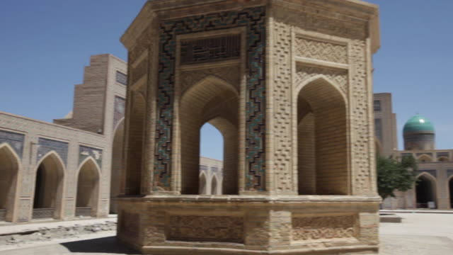 inside of the kalyan mosque (maedjid-i kalyan) in bukhara, uzbekistan - bukhara stock videos & royalty-free footage