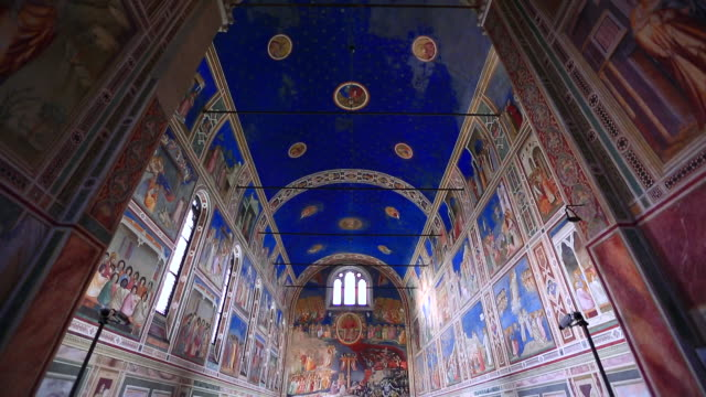 Inside of the Scrovegni Chapel in Padova, Italy