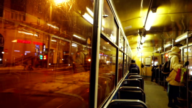 inside of tram wagon - commuter train stock videos & royalty-free footage