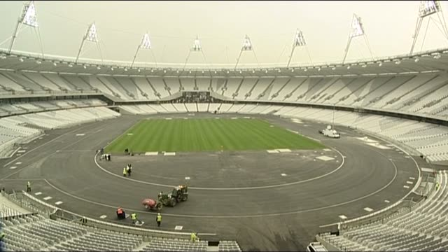 Inside Olympic Stadium for the London 2012 games