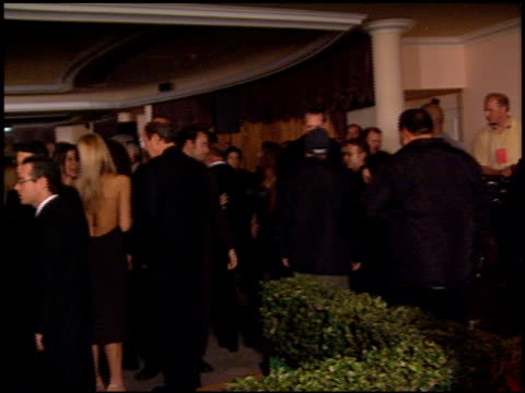 inside party at the clive davis' grammy awards party at the beverly hilton in beverly hills, california on february 20, 2001. - clive davis stock videos & royalty-free footage