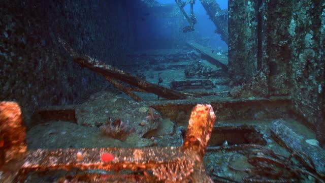 inside salem express (shepwreck)  [hd] - sinking stock videos & royalty-free footage