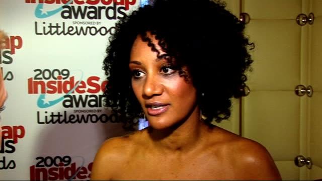 Winners' Room interviews Tupele Dorgu interview SOT On Eastenders being big winner / On getting on with other female members of 'Coronation Street'...
