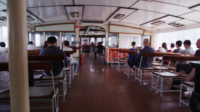 stockvideo's en b-roll-footage met inside star ferry - star ferry