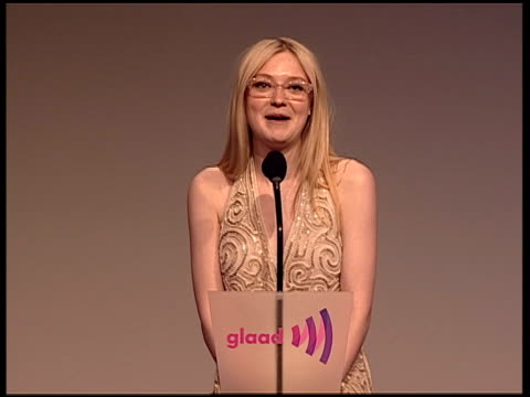 inside the 23rd annual glaad media awards on 03/24/12 in new york ny united states - バーナデット ピータース点の映像素材/bロール