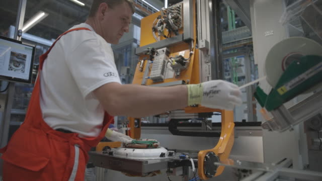 Inside the Audi AG electric engine production plant in Gyor Hungary on Tuesday July 24 2018