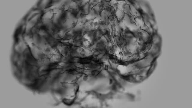 inside the brain is black - human brain stock videos & royalty-free footage