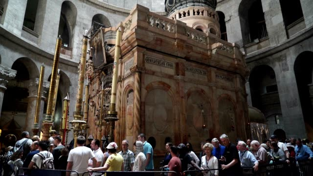 Inside the Church of the Holy Sepulchre in the old city