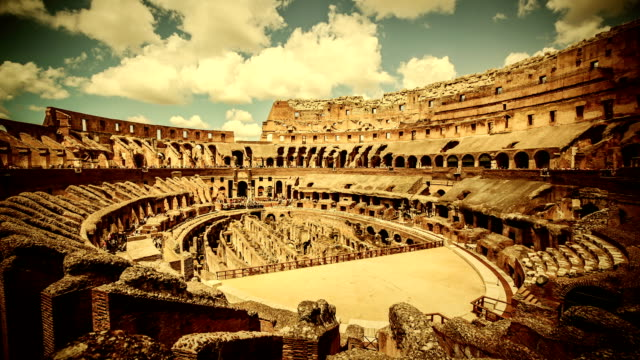inside the coliseum of rome timelapse - colosseum rome stock videos and b-roll footage