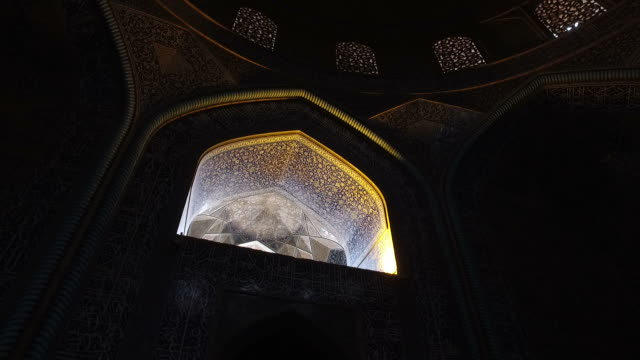 inside the dome of the sheikh lotfollah mosque - marble wall stock videos and b-roll footage