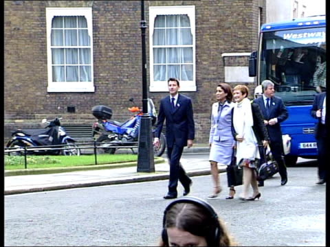 inspection continues; england london buckingham palace int gv table set for banquet for ioc inspectors track downing street no.10 day lms lord coe ,... - bid stock videos & royalty-free footage