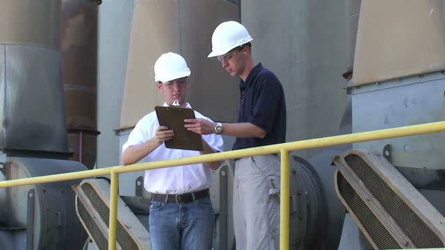 osha inspection or engineers - paper mill stock videos and b-roll footage