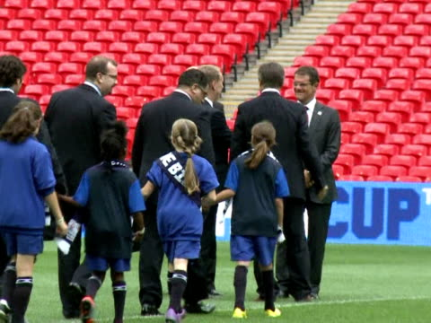 inspectors began a four-day visit to inspect england's 2018 world cup bid on monday with the campaign boosted by encouraging words from fifa... - international team soccer stock videos & royalty-free footage