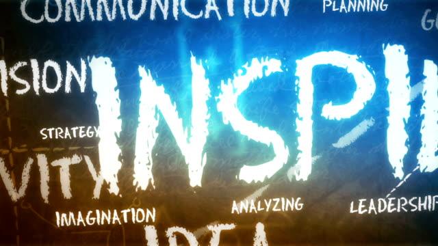 inspiration hintergrund (endlos wiederholbar) - sprache kommunikation stock-videos und b-roll-filmmaterial