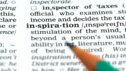 Inspiration word definition in english dictionary, ability to create artwork