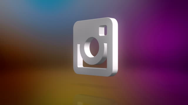instagram icon motion background - soziales netzwerk stock-videos und b-roll-filmmaterial