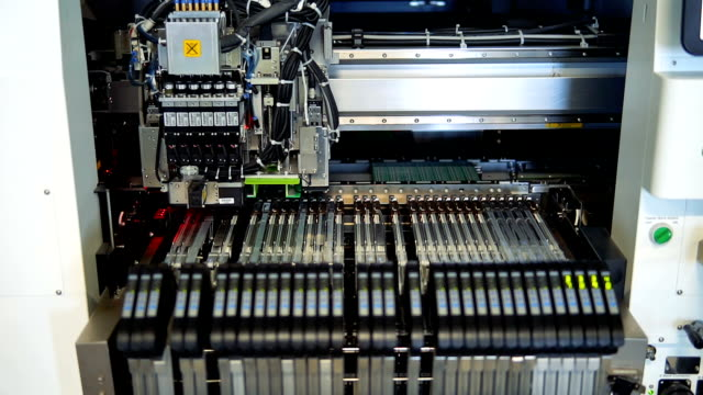 installation of electronic printed circuit boards - computer chip stock videos & royalty-free footage