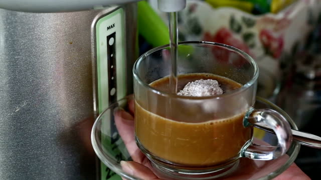 instant coffee drink in office - coffee drink stock videos and b-roll footage