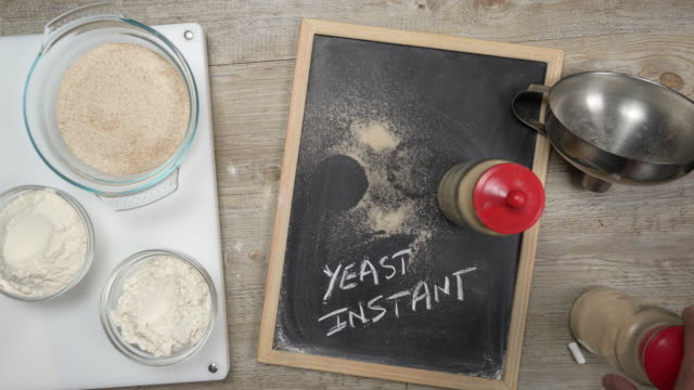 instant yeast - yeast stock videos & royalty-free footage
