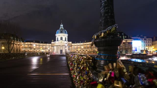 L'Institut de France and Love Padlocks on the Pont des Arts - Time Lapse