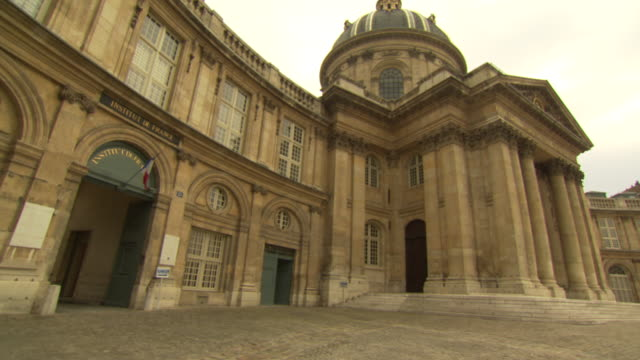 institut de france entrance in paris - french flag stock videos & royalty-free footage