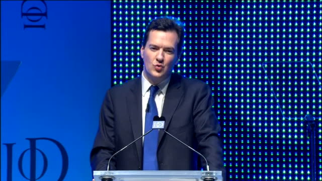 stockvideo's en b-roll-footage met institute of directors conference: george osborne speech; osborne speech sot - and next week, we will launch the new 2.5billion pounds business... - 12 13 years