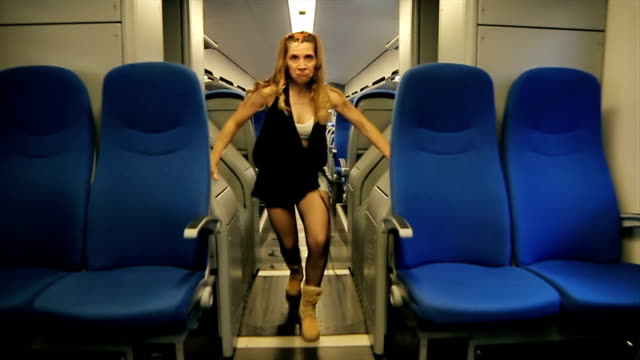 instructor of hip hop dance dancing on the train - instructor stock videos & royalty-free footage