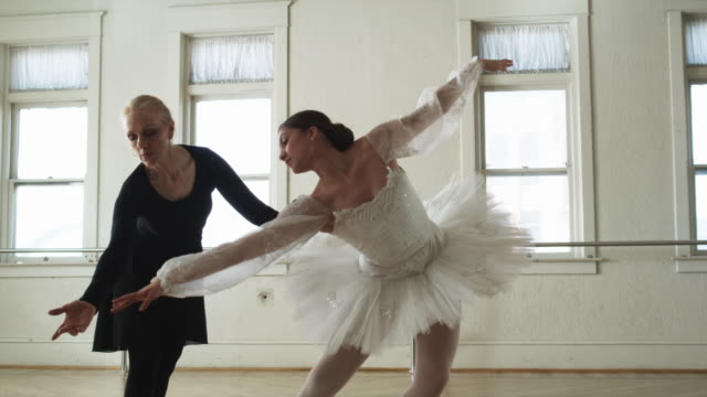 instructor working with a ballerina