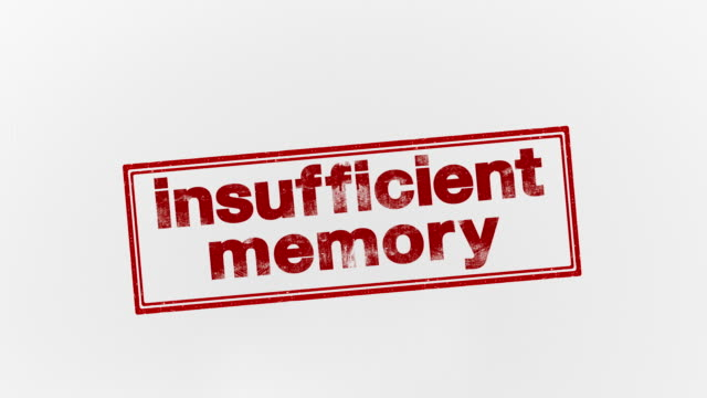 insufficient memory - seal stamp stock videos & royalty-free footage