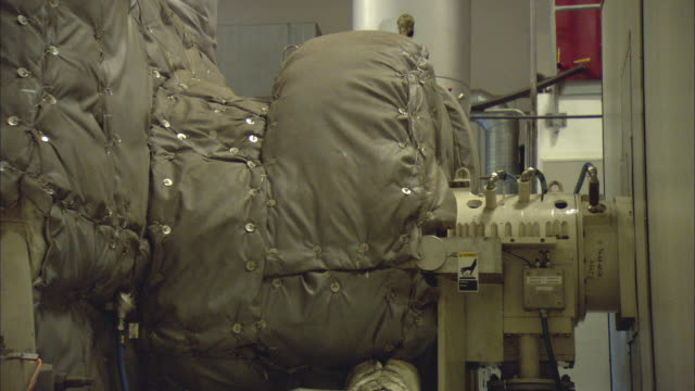 cu insulating system on machine at biomass plant / vaxjo, sweden - vaxjo stock videos & royalty-free footage