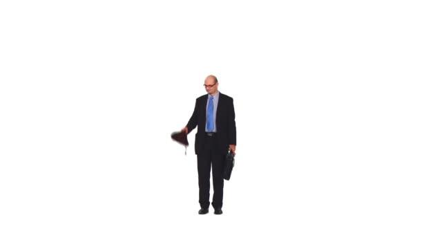 vídeos de stock e filmes b-roll de hd: corretor de seguros - camisa e gravata
