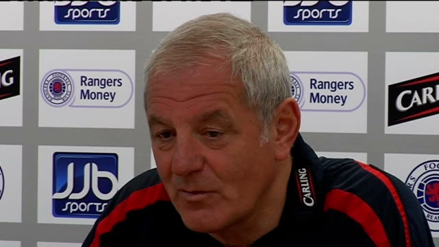Glasgow Rangers Walter Smith press conference SCOTLAND Glasgow INT Walter Smith press conference SOT Talks about importance of Scottish League Cup /...
