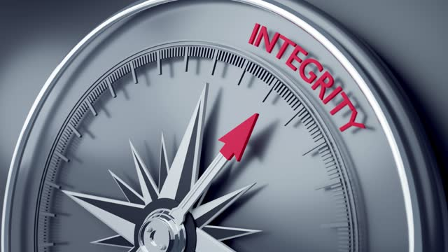 integritet pekar på en 3d-kompass nål i 4k-upplösning - simple living bildbanksvideor och videomaterial från bakom kulisserna