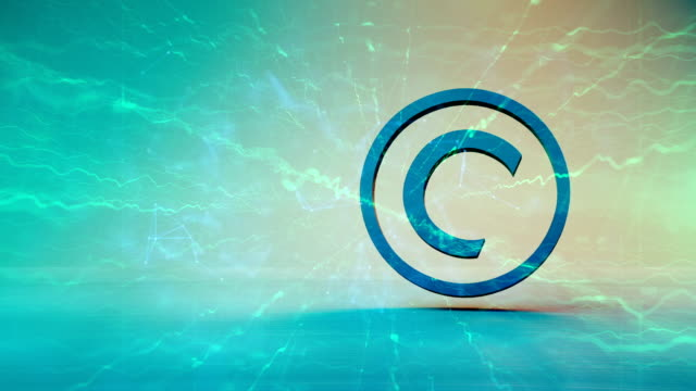 intelectual property symbol, copyright - intellectual property stock videos & royalty-free footage