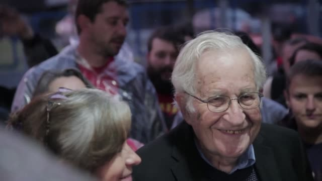 us intellectual and linguist noam chomsky in brazil to visit former brazil president luis inacio lula da silva who is in jail on corruption charges... - brasile meridionale video stock e b–roll