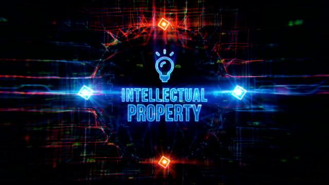 vídeos y material grabado en eventos de stock de fondo digital de propiedad intelectual - derecho