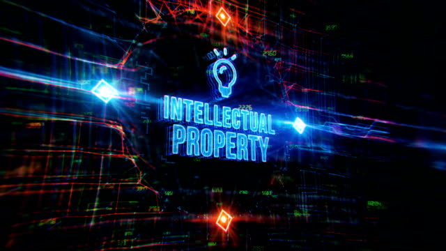 intellectual property digital background - intellectual property stock videos & royalty-free footage