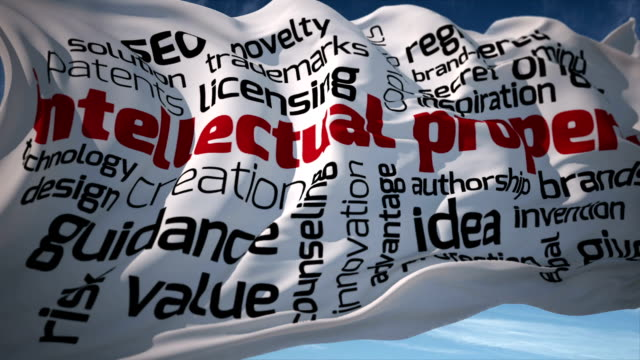 intellectual property flag - law stock videos & royalty-free footage