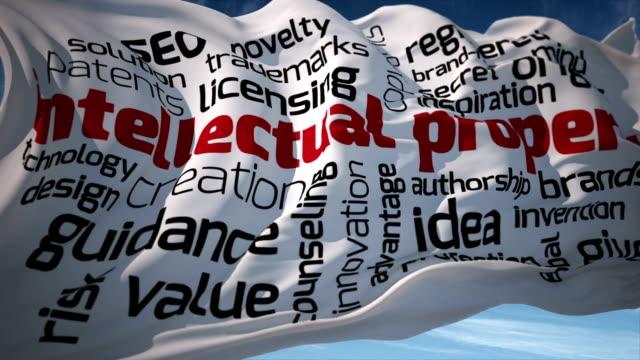 vídeos y material grabado en eventos de stock de bandera de la propiedad intelectual - derecho