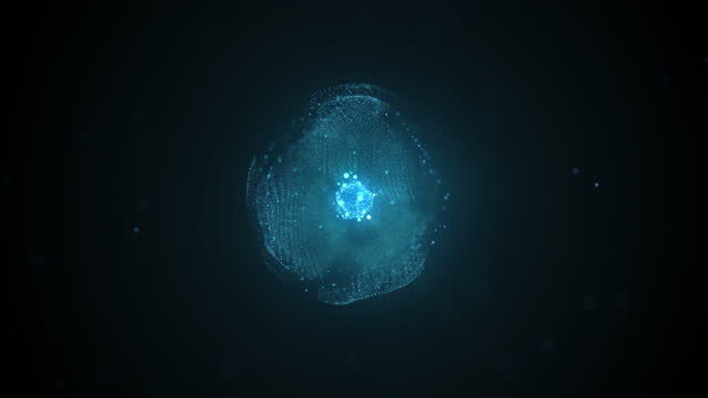 intelligent digital molecule with futuristic shape - intelligence stock videos & royalty-free footage