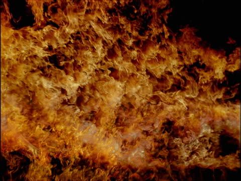 Intense burning fire
