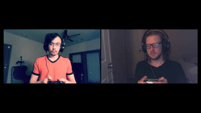 intense friends play a multiplayer online video game during a video call - alpha channel stock videos & royalty-free footage
