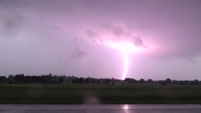 intense lightning strikes, supercell thunderstorm - scott mcpartland stock videos and b-roll footage
